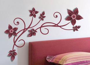 3D cvijetni uzorak naljepnica za zid